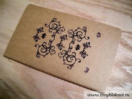 Как украсить обложку тетрадь своими руками