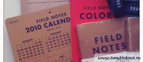 Field Notes Записные книжки, Календарь, Резинки
